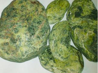 Камень для бани Серпинтинит шлифованный (ведро – 10 кг)