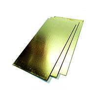 Лист латунный 0,5 мм Л63 (Л63А; CuZn37) ГОСТ 2208-2007 холоднокатаный
