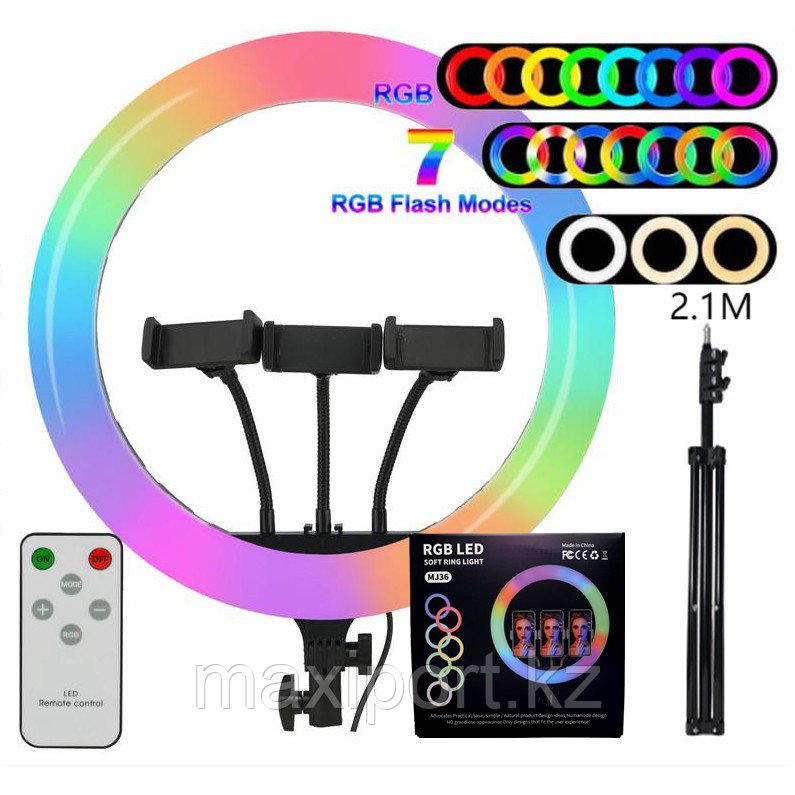 RGB Лампа Кольцевая Mj14 Со Штативом и пультом Ring Light  LED 14 дюймов