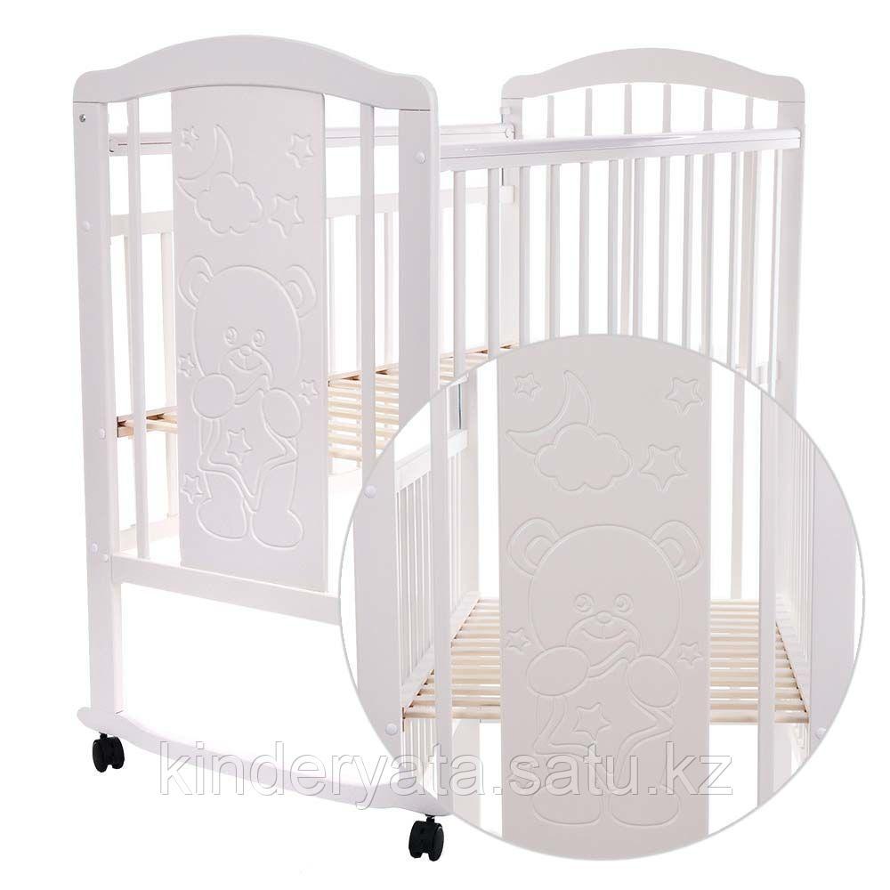 PITUSO Кровать детская NOLI МИШУТКА  колесо-качалка с наклад. опуск.планка