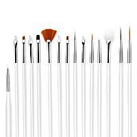 Кисточка с деревянной ручкой для дизайна ногтей (всех видов)