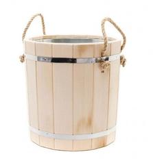 Ведро для бани из липы – 15 литров (оцинк. вставка)