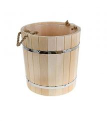 Ведро для бани из липы – 20 литров (пласт. вставка)