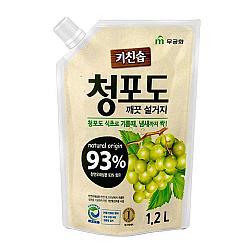 Средство для мытья посуды, овощей и фруктов в холодной воде Mukunghwa Rich Bubble Green Grape, 1,2л