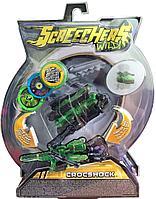 Screechers Wild Машинка-трансформер Крокшок, зеленый