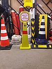 Конус дорожный пластмассовый желтый Н920 мм, фото 2