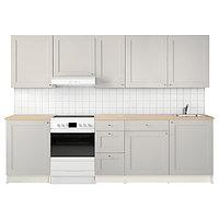 Кухня КНОКСХУЛЬТ серый 280x61x220 см ИКЕА, IKEA