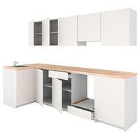 Кухня КНОКСХУЛЬТ белый 120x300x220 см ИКЕА, IKEA