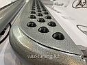 """Пороги железные плоские с резинкой """"Эксклюзив"""" Нива LADA 4х4, URBAN, фото 3"""