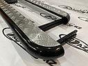 Пороги железные плоские с алюминиевым листом Нива LADA 4х4, Urban, фото 2