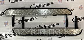 Пороги железные плоские с алюминиевым листом Нива LADA 4х4, Urban
