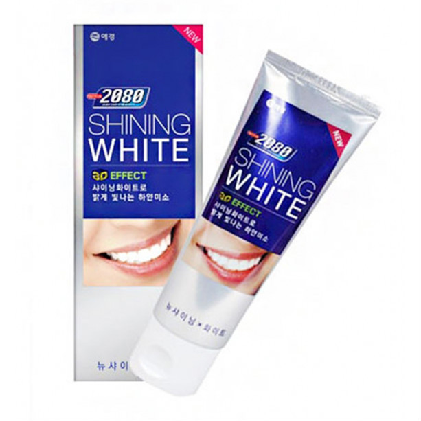 Отбеливающая зубная паста Сияющая Белизна Dental Clinic 2080 Shining White, KERASYS 100 г