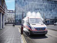 Арка дезинфекции для автомобилей, в том числе скорой помощи