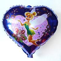 Фольгированный шар на палочке сердечко Фея