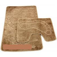 Набор ковриков д/ванной Zalel 2пр.55*85 (бежевый)