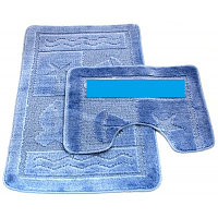 Набор ковриков д/ванной Zalel 2пр.60*100 (голубой)