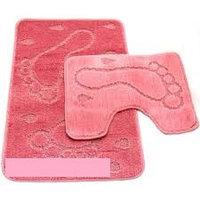 Набор ковриков д/ванной Zalel 2пр.60*100 (розовый)