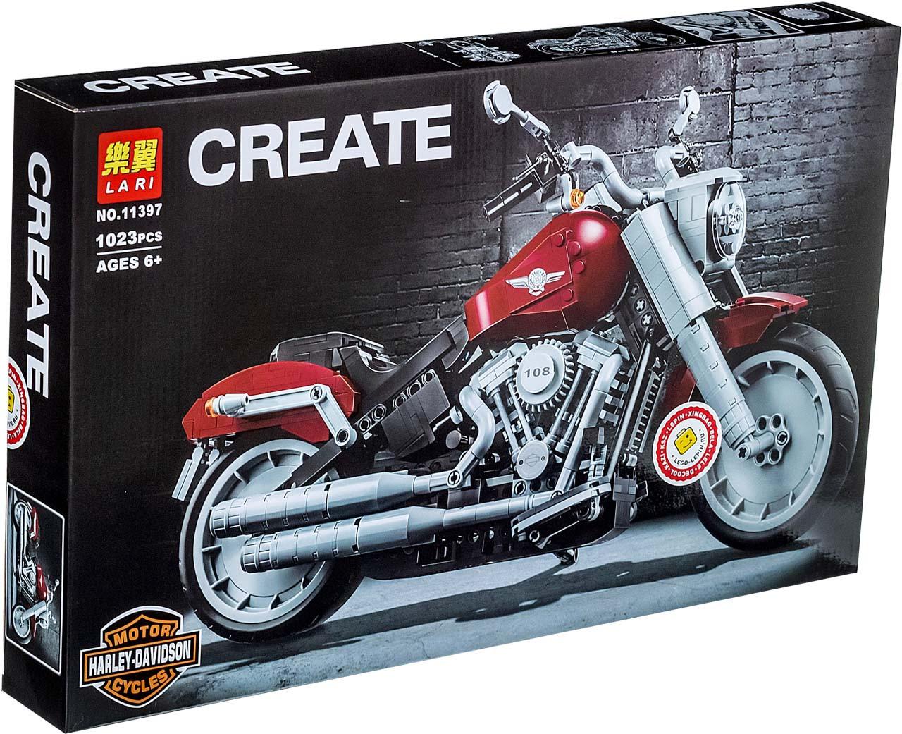 Lari Create 11397 Конструктор Мотоцикл Harley-Davidson Fat Boy (Аналог LEGO 10269)