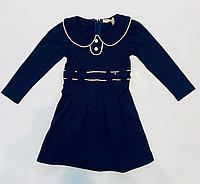 Платье синее с воротничком 2-3 года