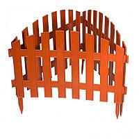 Забор декоративный Винтаж, 28х300 см, терракот, Россия Palisad