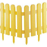 Забор декоративный Классика, 29х224 см, желтый, Россия Palisad