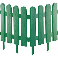 Забор декоративный Классика, 29х224 см, зеленый, Россия Palisad