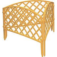 Забор декоративный Сетка, 24х320 см, желтый, Россия Palisad