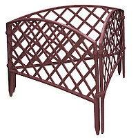 Забор декоративный Сетка, 24х320 см, терракот, Россия Palisad
