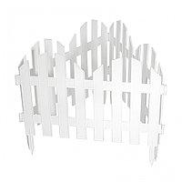 Забор декоративный Романтика, 28х300 см, белый, Россия Palisad