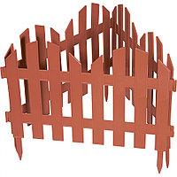 Забор декоративный Романтика, 28х300 см, терракот, Россия Palisad