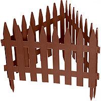 Забор декоративный Рейка, 28х300 см, терракот, Россия Palisad