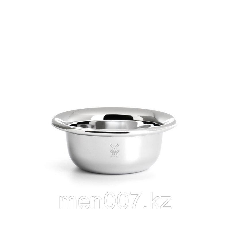 Чаша для бритья Muehle (хромированная сталь) в картонной упаковке