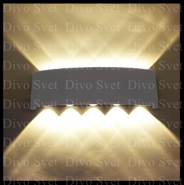 """Led светильник """"Линза 5*5"""" 10w, декоративный. Светодиодный архитектурный прожектор 10w настенный."""