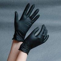 Перчатки нитрил (Wally Plastic) синий и черный цвет