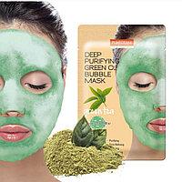 PUREDERM  Bubble Mask Green TeaКислородная тканевая маска для очищения пор и увлажнения