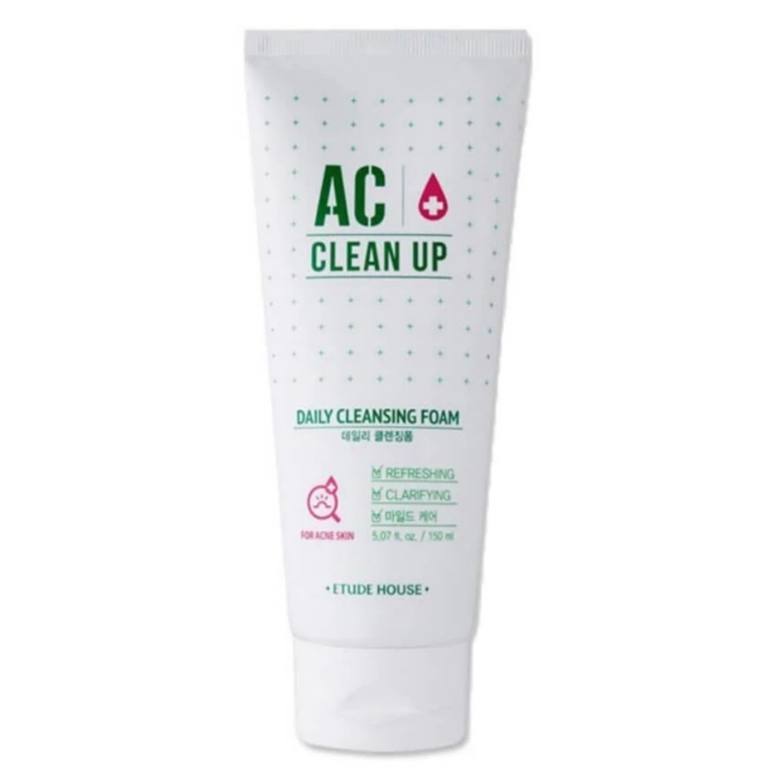 Пенка для проблемной кожи Etude House AC Clean Up Daily Cleansing Foam 150ml.