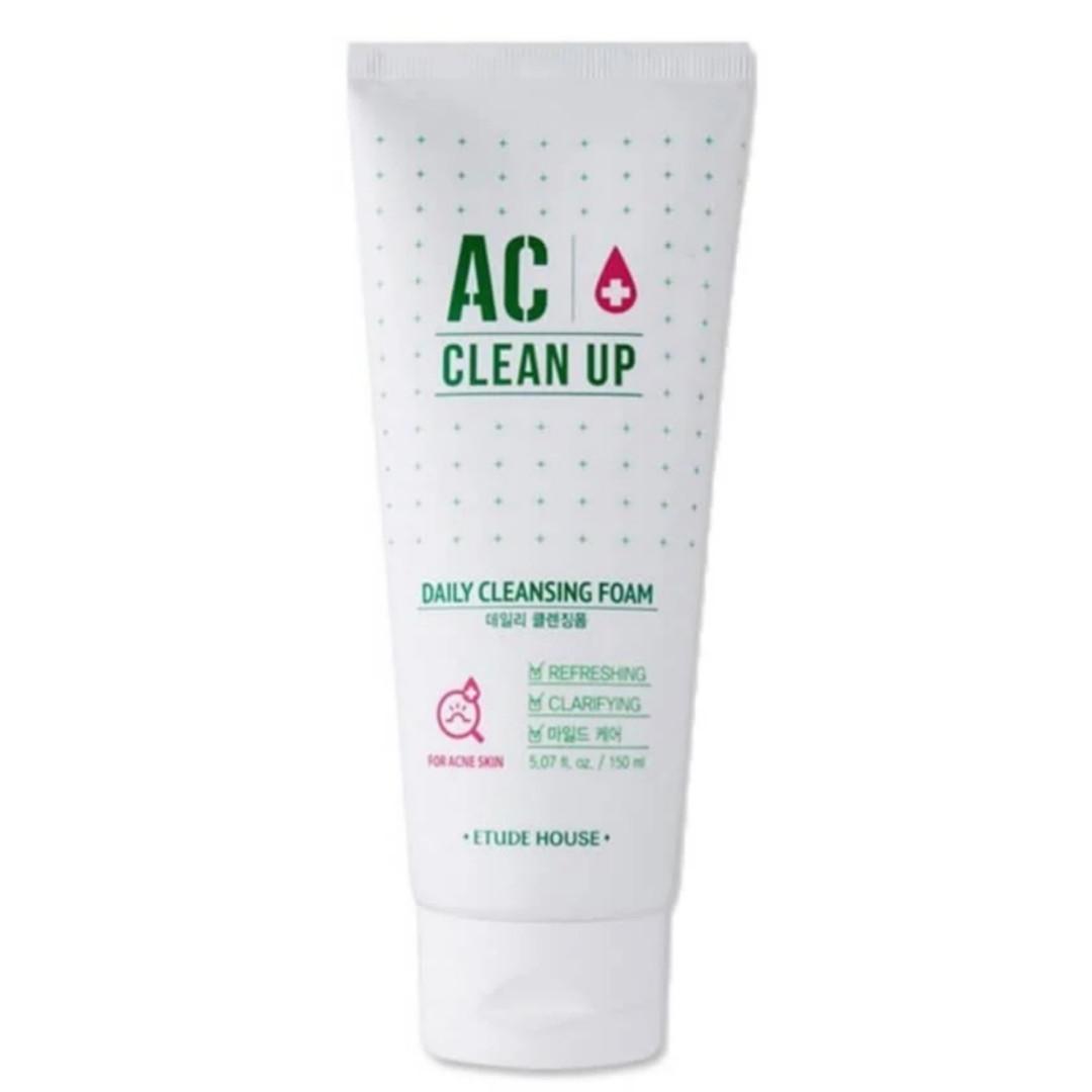 Пенка для проблемной кожи Etude House AC Clean Up Daily Cleansing Foam 150ml.