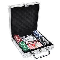 Набор в алюминиевом кейсе для игры в покер Poker Game Set Casino Size Chip (100 фишек)