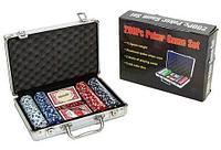 Набор в алюминиевом кейсе для игры в покер Poker Game Set Casino Size Chip (200 фишек)