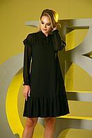 Женское осеннее черное нарядное платье Barbara Geratti by Elma 2769 черный 42р.