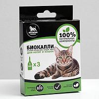 """Биокапли """"ПИЖОН Premium"""" для котят и кошек от блох и клещей, до 10 кг, 3х1мл"""