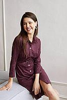 Женское осеннее фиолетовое большого размера платье MALKOVICH 99175 86 42р.