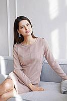 Женское осеннее замшевое розовое большого размера платье MALKOVICH 99177 16 42р.
