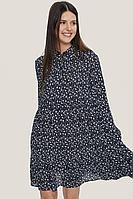 Женское осеннее из вискозы синее платье MALKOVICH 99198 7902 42р.
