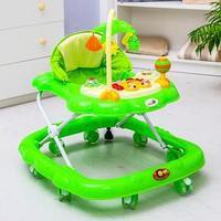 Ходунки 'Цветок', 8 силик. колес, тормоз, муз., игрушки, зеленый