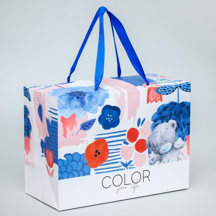 "Пакет-коробка ""Color your life"", Me To You, 20 x 28 x 13 см - фото 1"