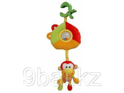 I-BABY Развивающая игрушка подвеска ОБЕЗЬЯНКИ на клипсе