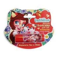 Детский бальзам для губ Enchantimals 'Фелисити Лис и Флик', апельсин с маслом авокадо, 4,2 г
