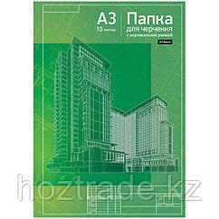 Бумага для черчения ArtSpace, 10л., А3, с вертикальной рамкой, 160г/м2