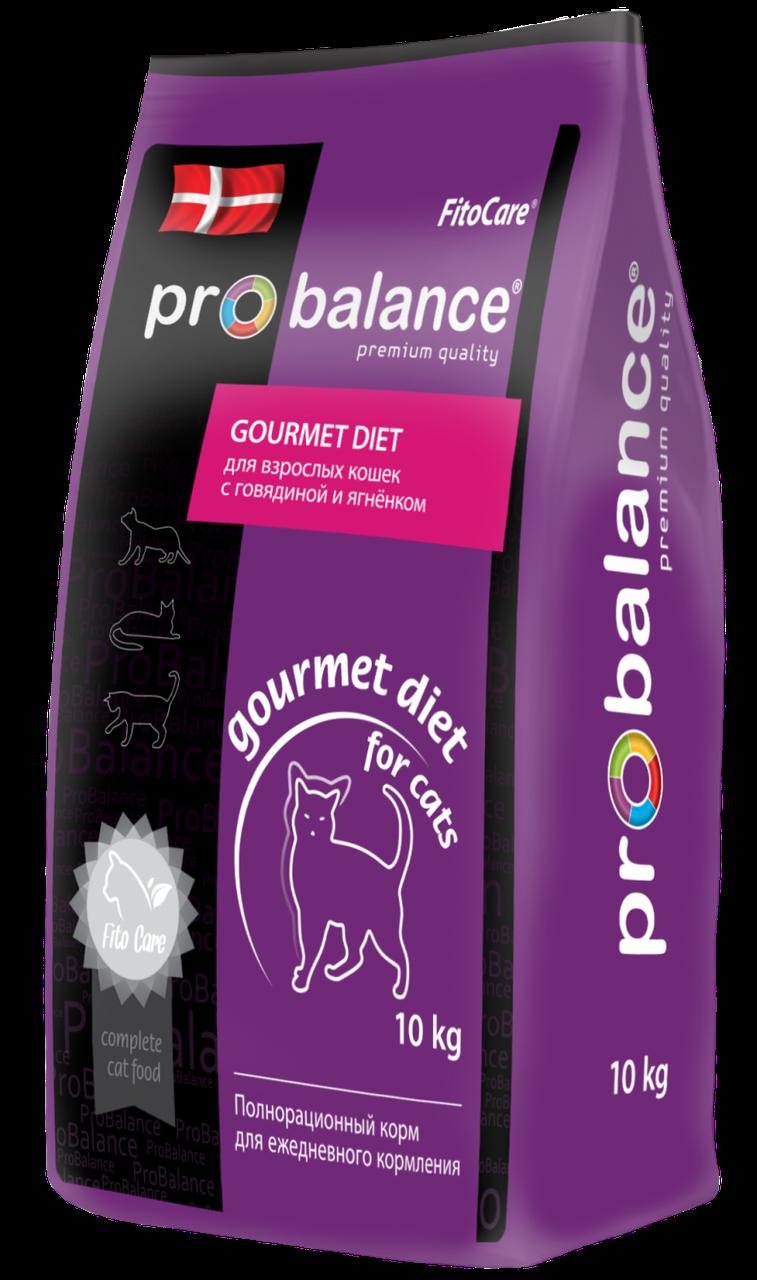 ProBalance Gourmet Diet для взрослых кошек, говядина, кролик